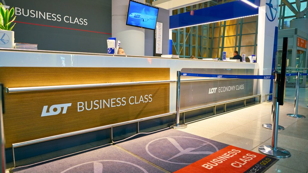 business class counter